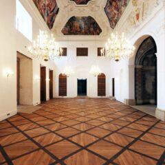 interiér Šlechtovy restaurace v Praze ve Stromovce